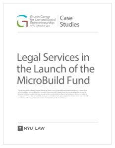 Legal Services in the Launch of the MicroBuild Fund PDF Thumbnail